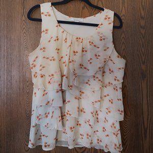 Dressbarn XL tiered cherry blosson tank blouse